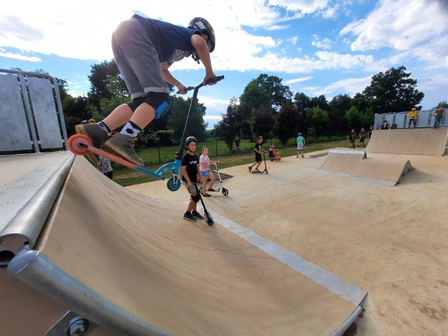 Otwarcie skateparku w Wołczynie