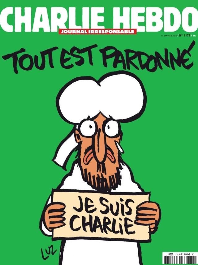 """Okładka najnowszego numeru """"Charlie Hebdo"""""""