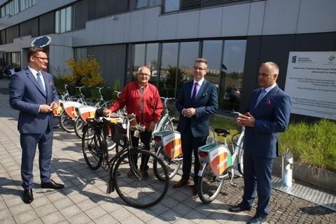Nowa wypożyczalnia miejskich rowerów w Katowicach jest przy Górnośląskim Parku Przemysłowym