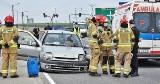 Seria zderzeń aut na ul. Mroteckiej w Nakle. Kierowco – noga z gazu [zdjęcia]