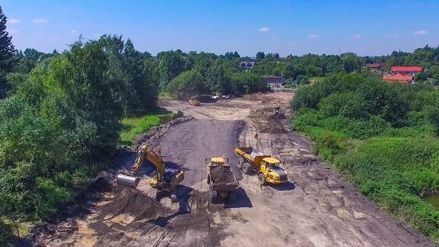 Plac budowy drugiego odcinka trasy N-S