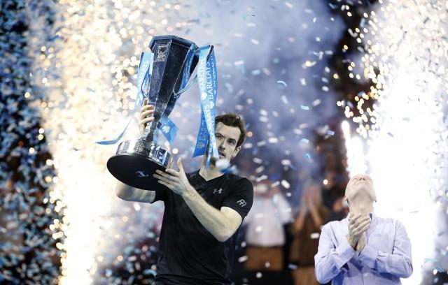 Andy Murray i jego puchar