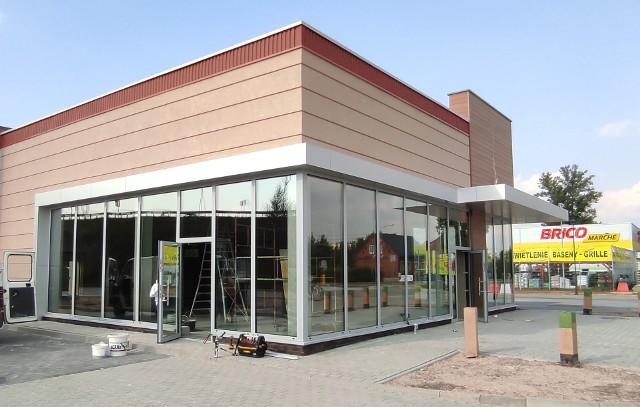 Przy ul. Konopnickiej w Oświęcimiu dobiega końca budowa baru sieci Burger King