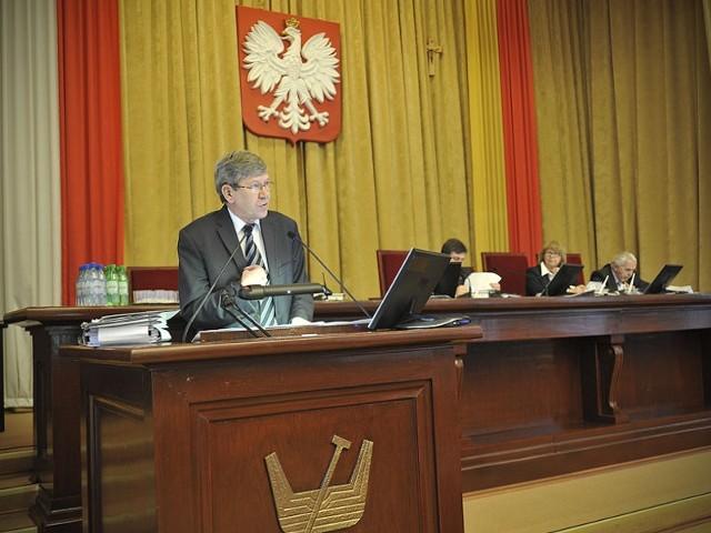 Władysław Skwarka, przewodniczący Komisji Rewizyjnej łódzkiej Rady Miejskiej.
