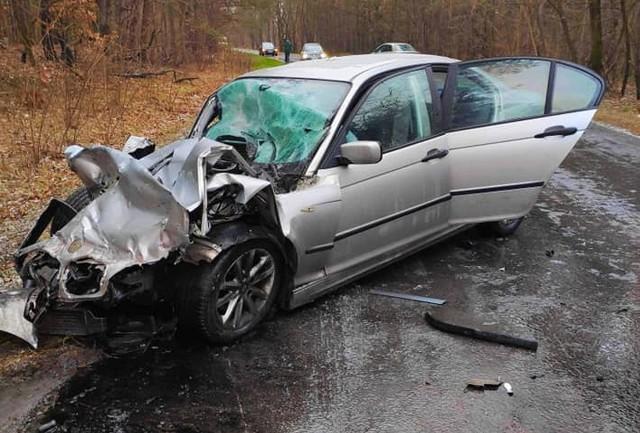 Czwartkowy wypadek w Stalach na drodze powiatowej