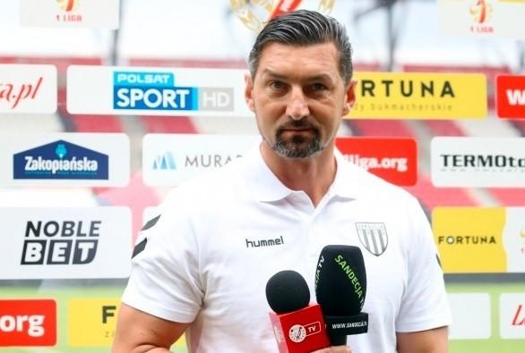 Dariusz Dudek jest trenerem Sandecji od listopada 2020 roku