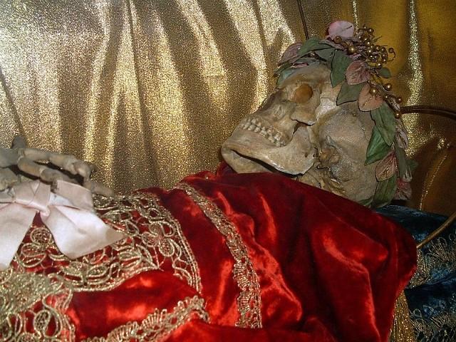 Szczątki św. Teofila z bazyliki o.o. Dominikanów w Jarosławiu