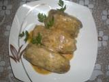 Przepisy kulinarne: Gołąbki z surowych ziemniaków z kaszą gryczaną i mięsem