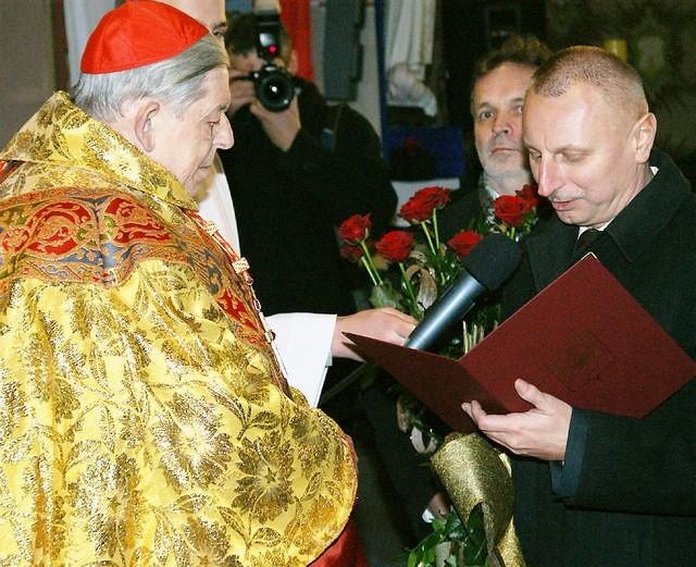 Po uroczystej mszy w kościele pw. Zwiastowania NMP, w której prymas został przed 80. laty ochrzczony, jego Eminencja odbrał wiele życzeń i gratulacji, m.in. od prezydenta Inowrocławia Ryszarda Brejzy