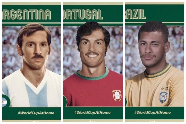 """Nigdy nie dowiemy się, jak w mistrzostwach świata w 1970 r. spisaliby się Cristiano Ronaldo czy Lionel Messi. Za to dzięki grafice komputerowej możemy zobaczyć, jak obecne gwiazdy futbolu mogłyby wyglądać w tamtych czasach! Kontro na Instagramie """"FIFA World Cup"""" oprócz Portugalczyka i Argentyńczyka w wyjątkowy sposób zaprezentowali Neymara, Mohameda Salaha, Kyliana Mbappe i Paula Pogba. Koniecznie musicie to zobaczyć!"""