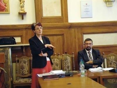 Iwona Koza i Piotr Zymon mówili o niespójnych przepisach przy wydawaniu pozwoleń wodno-prawnych FOT. EWA TYRPA