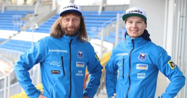 Trener Adam Skórnicki i Marcin Nowak