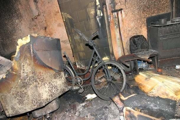 Spalone mieszkanie przy ul. Podgórnej.