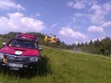 Wypadek paralotniarza na górze Żar. Mężczyzna spadł z dużej wysokości. Interweniował śmigłowiec LPR