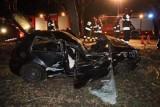 Makabryczny wypadek w Opolu. Kierowca zawisł na drzewie