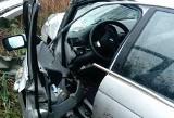 Ancuty. Wypadek BMW na trasie Narew - Trześcianka (zdjęcia)