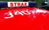Płonący volkswagen zablokował wyjazd z Nowego Sącza w kierunku Krynicy-Zdroju