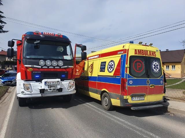 Wypadek w Sance. Zderzenie motocyklisty z pojazdem ciężarowym