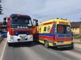 Wypadek w Sance. Zderzenie samochodu ciężarowego z motocyklem. Jedna osoba poszkodowana