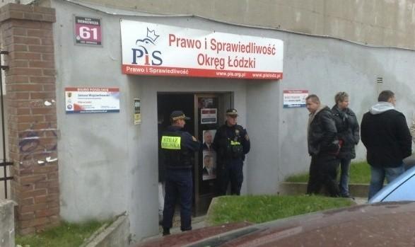 Siedziba PiS w Łodzi: Tu doszło do strzelaniny.