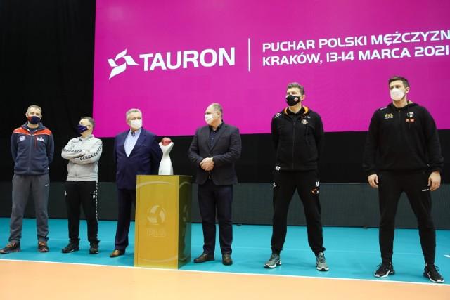 Konferencja prasowa przed finałowym turniejem Tauronu Pucharu Polski w siatkówce mężczyzn