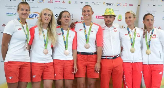 Polskie medalistki z Rio promieniały szczęściem