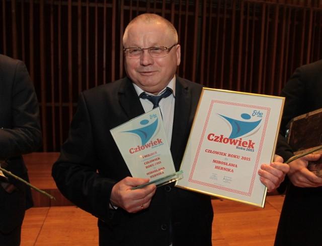 Laureaci nagrody Człowiek Roku 2015 w regionie radomskim.