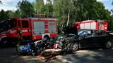 Dwa wypadki z udziałem motocyklistów w weekend