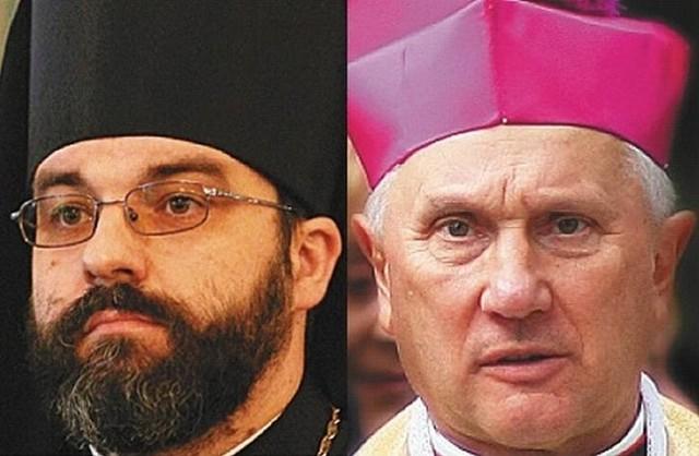 + Jakub, Prawosławny Arcybiskup Białostocki i Gdański i Arcybiskup Edward Ozorowski, Metropolita Białostocki składają życzenia wielkanocne