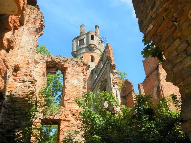 Malownicze ruiny pałacu Orzelskich z końca XVI wieku w Runowie Krajeńskim nad Jeziorem Runowskim Małym. Opodal ruin znajduje się ekskluzywny hotel i restauracja