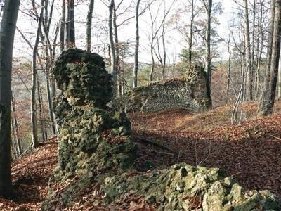 Tyle pozostało z zamkowych murów. Fot. Artur Rotter