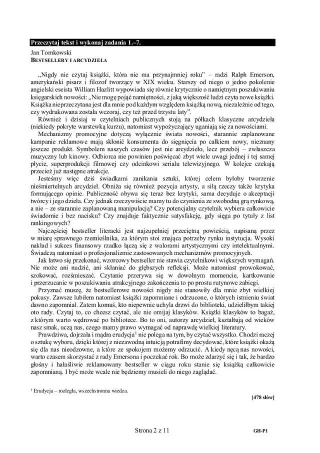 Egzamin gimnazjalny 2018 Język Polski. W środę, 18 kwietnia rozpoczyna się egzamin gimnazjalny. Uczniowie będą pisać EGZAMIN Z JĘZYKA POLSKIEGO. Jakie będą pytania na polskim? Czy są jakieś przecieki z języka polskiego?  [ARKUSZE CKE - PYTANIA I ODPOWIEDZI Z JĘZYKA POLSKIEGO - PRZECIEKI, TEMATY, ROZWIĄZANIA]