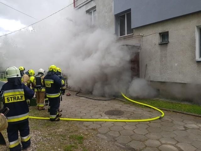 Pożar w Trąbkach Wielkich przy ul. Gdańskiej 17.05.2020