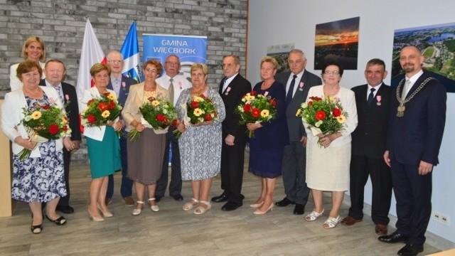 W Więcborku sześć małżeństw świętowało Złote Gody, czyli jubileusz 50. rocznicy ślubu