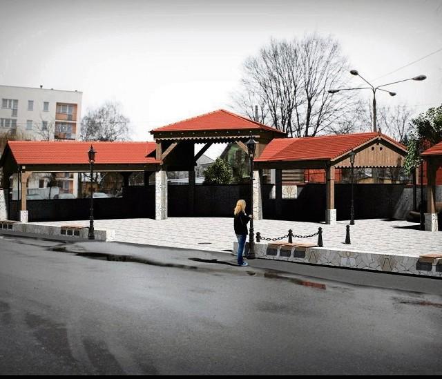 Wizualizacja placu przy ul. Wesołej po przebudowie