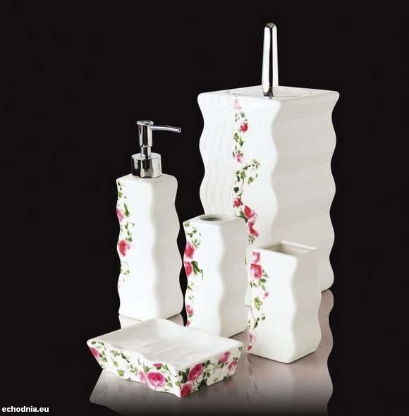 Zestawy łazienkowe z eleganckiej porcelany Abs-invest są...
