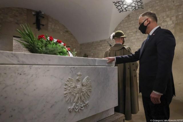 Prezydent Andrzej Duda na obchodach 11. rocznicy katastrofy smoleńskiej