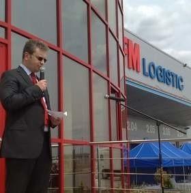 Dziś o godz. 12.00 dokonano otwarcia platformy logistycznej. (fot. Radosław Dimitrow)