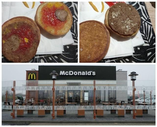 Nasz Internauta dostał w Mc Donaldsie przy ul. Produkcyjnej w Białymstoku hamburgera, któremu brakuje wielu składników
