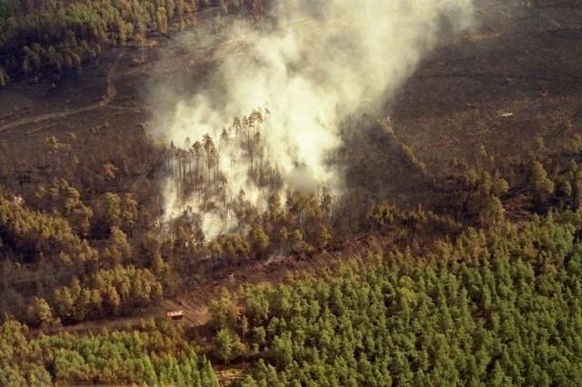 Pożar w okolicach Kuźni Raciborskiej. 1992 rok.