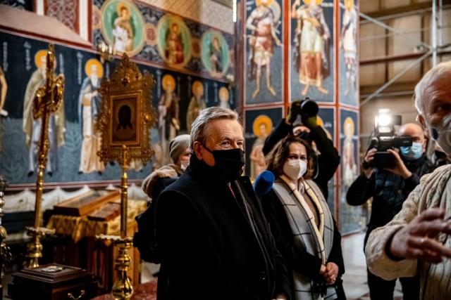 Minister kultury, wicepremier Piotr Gliński odwiedził wczoraj supraski monaster i muzeum ikon