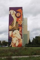 Wielki mural na Retkini gotowy. Podoba się? [ZDJĘCIA]