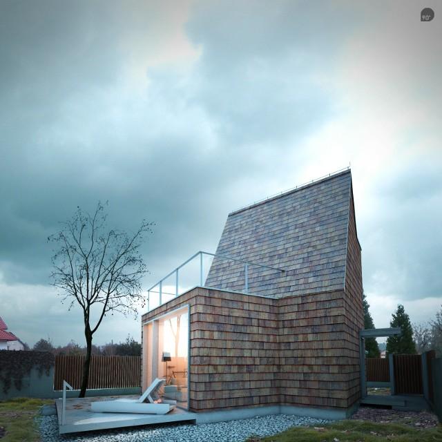 Zobacz jak wygląda mały dom dla singla lub pary (WIZUALIZACJE)Mały dom dla singla lub pary (WIZUALIZACJE)