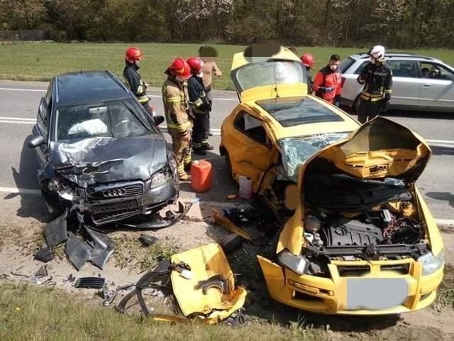 Wypadek na DK 87 w Barcicach
