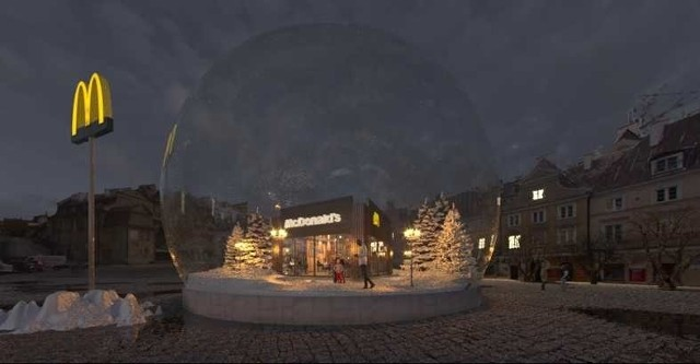 Na Placu Zamkowym - Wielka Kula McDonalds'sW niedzielę McDonald's zaprasza mieszkańców Lublina na poszukiwania lepszej strony zimy. Na Placu Zamkowym pojawi się niezwykła instalacja - przezroczysta kula z restauracją McDonald's w śnieżnej scenerii.Niedziela, Plac Zamkowy, godz. 10 - 21