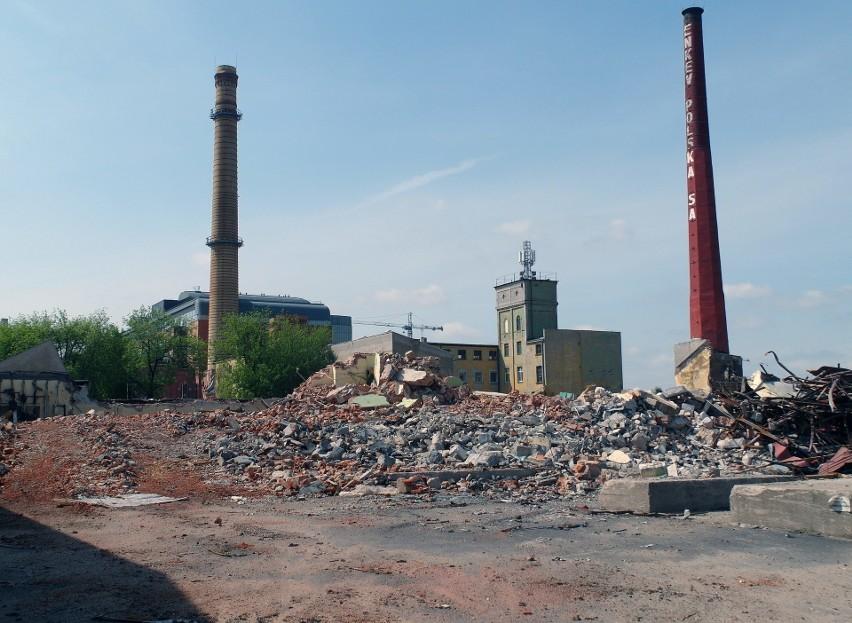 Targowa 2 w Łodzi. Trwa rozbiórka dawnych zakładów Enkev