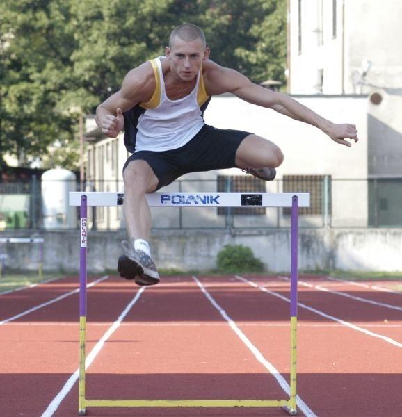 Bieg na 110 m przez płotki jest mocną stroną Krzysztofa Plaskoty.