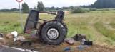 Groźny wypadek w powiecie włodawskim. Audi rozerwało ciągnik rolniczy na pół
