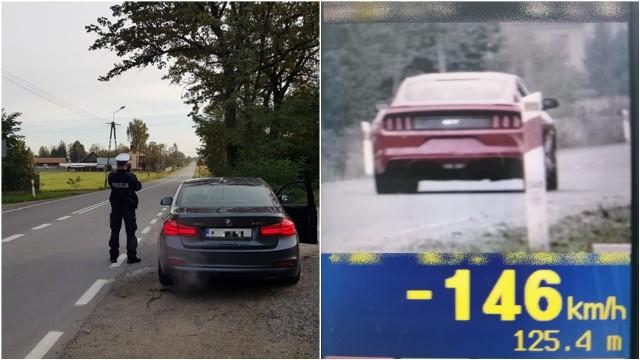 Rejestrator skierowany na odjeżdżający pojazd zmierzył jego prędkość i pokazał 146 km/h,  w miejscu, gdzie obowiązuje ograniczenie prędkości do 50 km/h