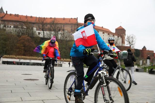 Protest rowerowy w Krakowie